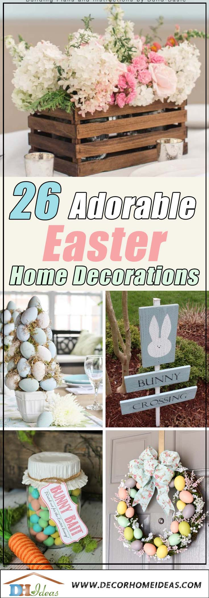 26 Adorable Easter Home Decorations #easter #decoration #spring #diy #decorhomeideas