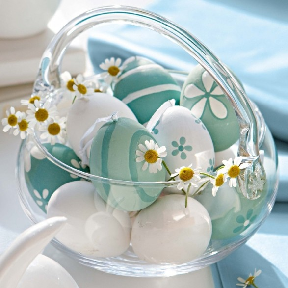Easter Egg Basket #easter #decoration #spring #diy #decorhomeideas