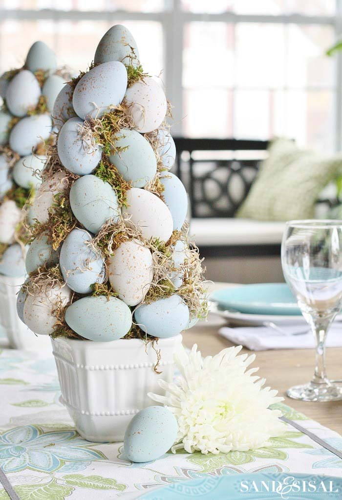 Easter Egg Topiary Tree #easter #decoration #spring #diy #decorhomeideas