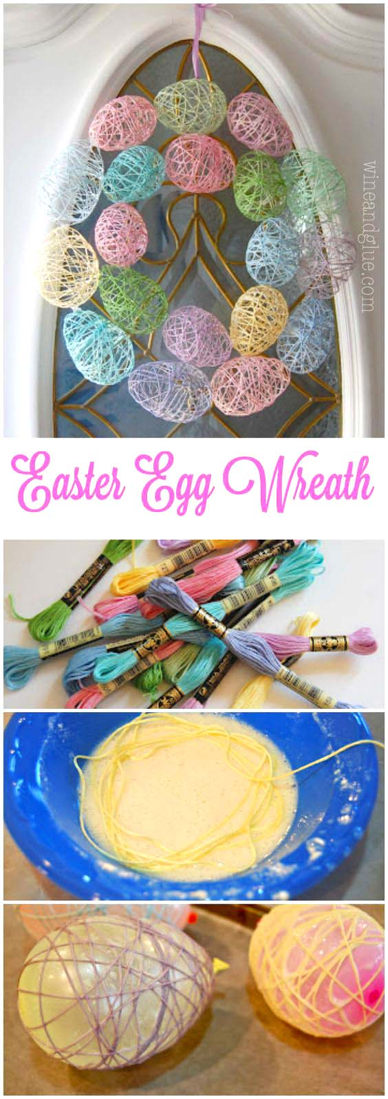Easter Eggs Wreath #easter #crafts #diy #decorhomeideas