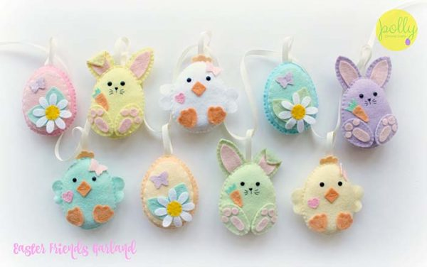 Easter Friends Garland #easter #crafts #diy #decorhomeideas