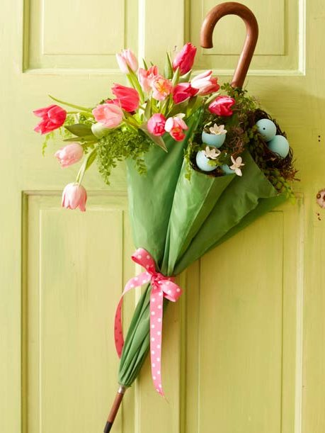 Easter Front Door Decoration #easter #crafts #diy #decorhomeideas