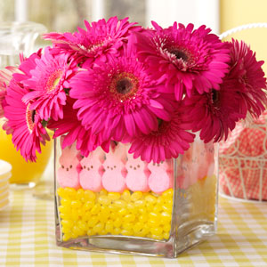 Easter Peeps Centerpiece #easter #decoration #spring #diy #decorhomeideas