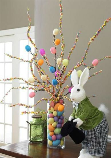 Easter Tree With Bunny #easter #decoration #spring #diy #decorhomeideas