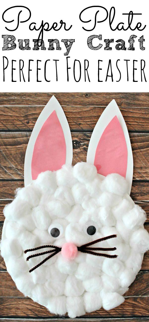Easy Paper Plate Bunny Craft #easter #crafts #diy #decorhomeideas