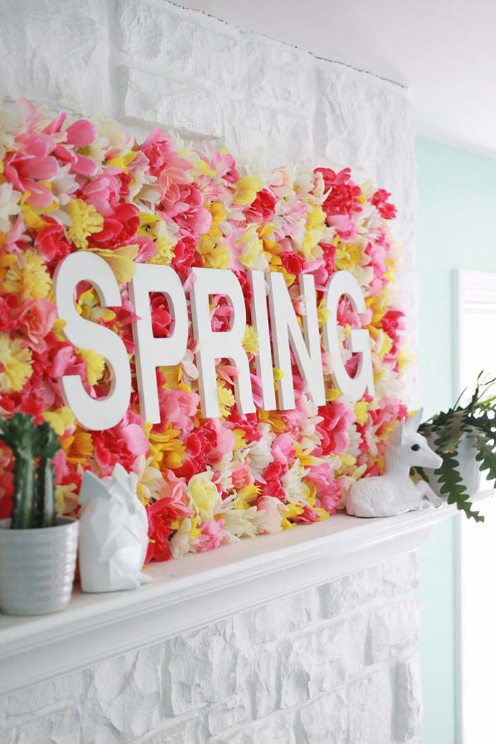 Floral Easter Backrdrop #easter #decoration #spring #diy #decorhomeideas