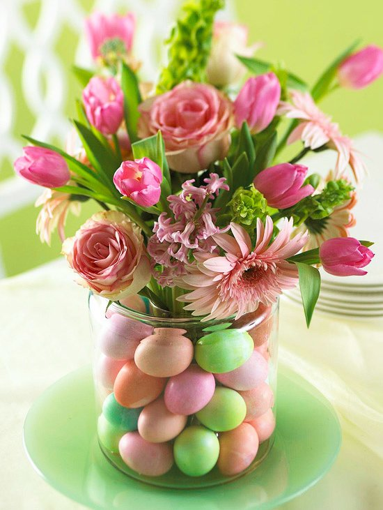 Floral Easter Centerpiece #easter #decoration #spring #diy #decorhomeideas
