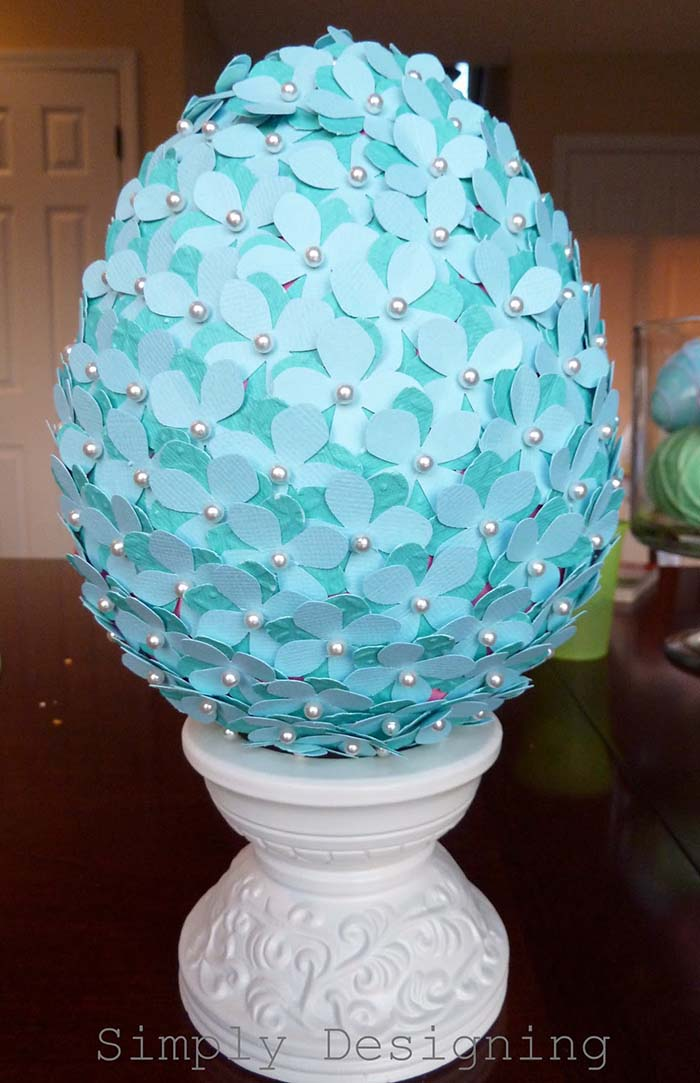 Flowered Egg #easter #decoration #spring #diy #decorhomeideas