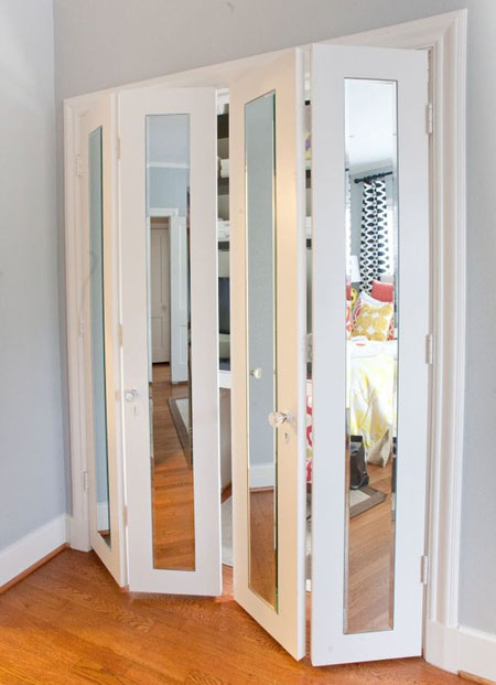 Folding Mirror Closet Door #closet #door #interior #decorhomeideas
