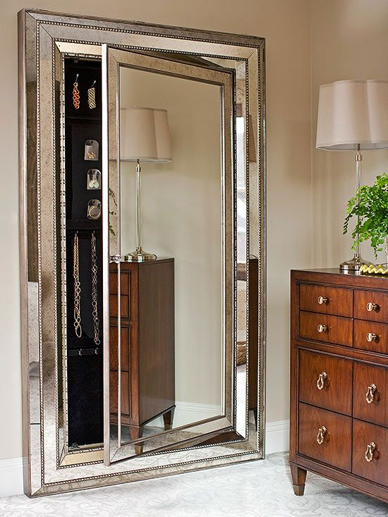 Jewelry Closet Mirrored Door #closet #door #interior #decorhomeideas