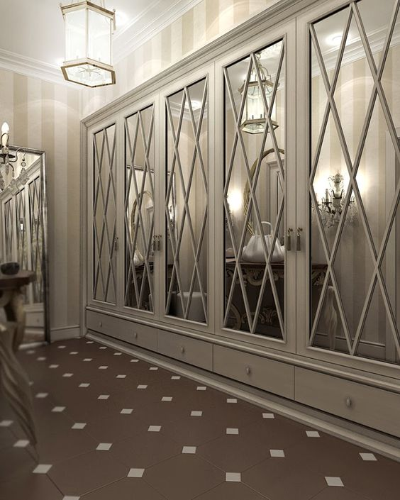 Luxury Mirror Closet Doors #closet #door #interior #decorhomeideas