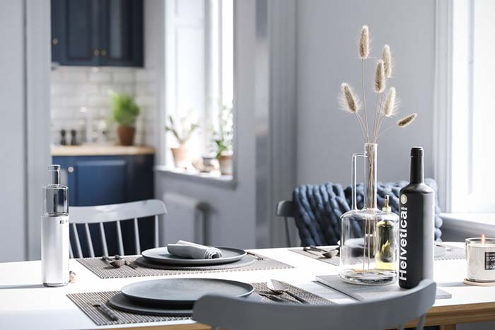 Blue Kitchen Dining Table Decoration
