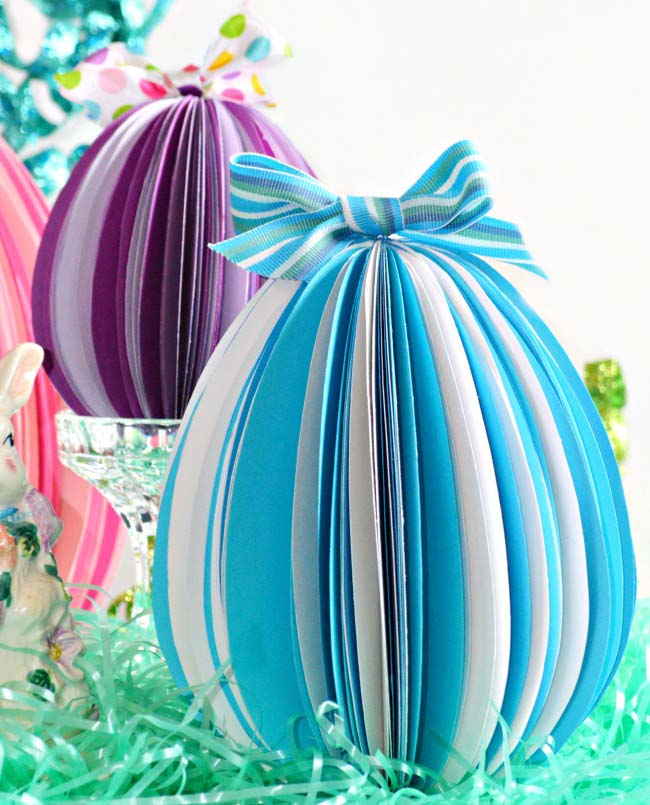 Stand Up Paper Eggs #easter #decoration #spring #diy #decorhomeideas
