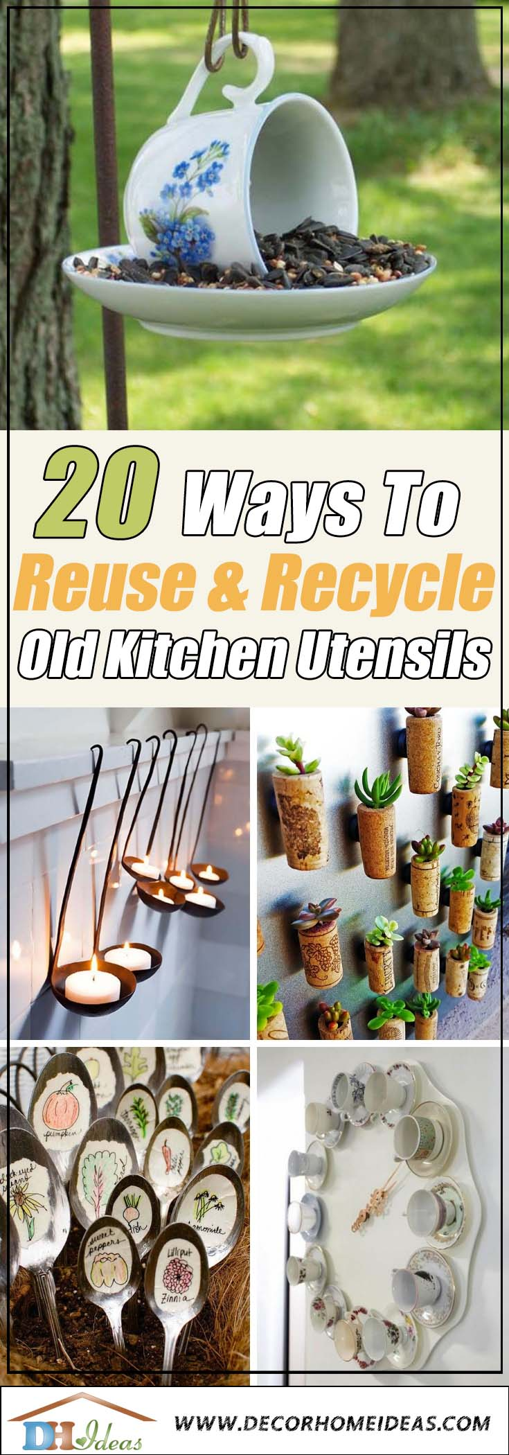 How To Reuse Old Kitchen Utensils #repurpose #reuse #kitchen #utensil #decorhomeideas