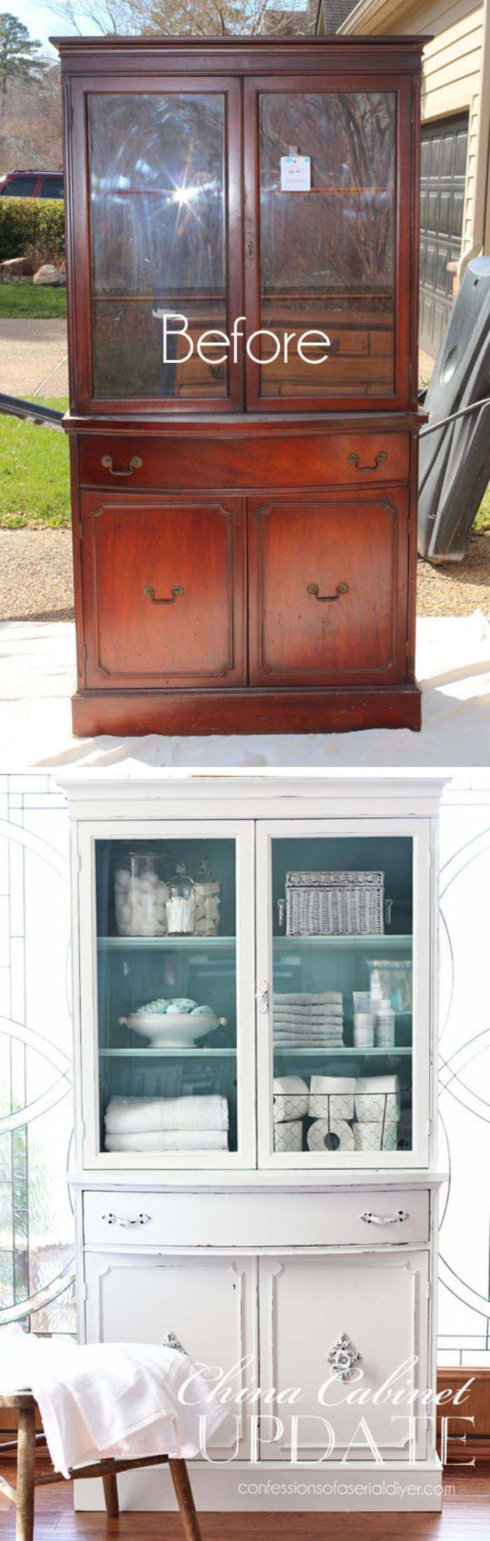 China Cabinet Makeover #furniture #makeover #decorhomeideas