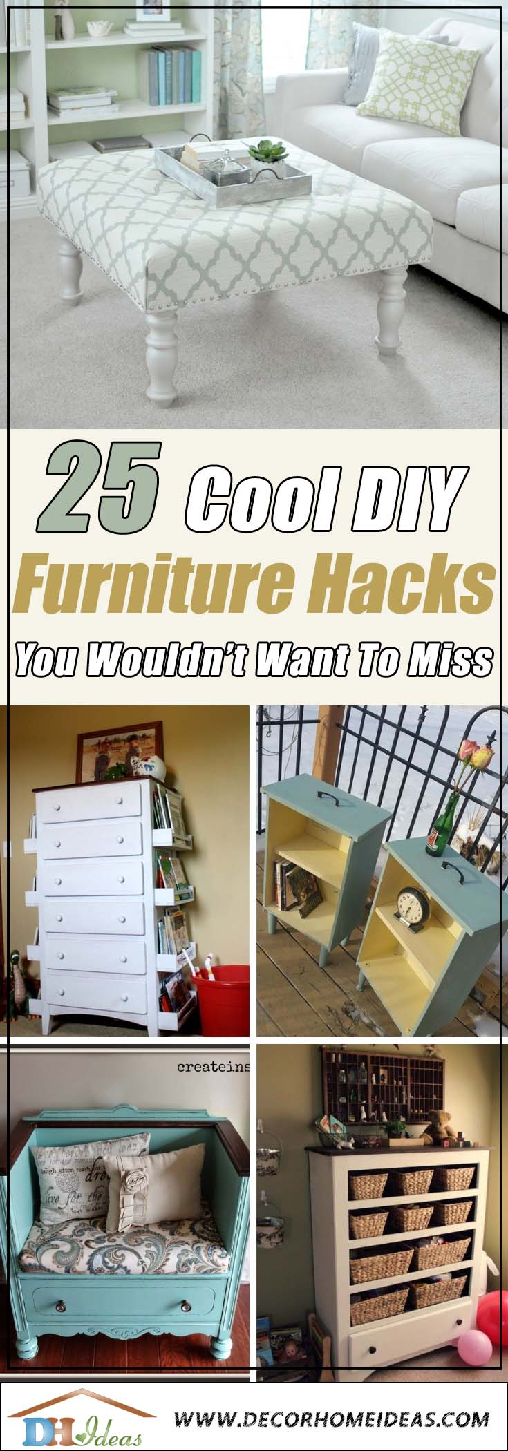 Fantastic Furniture Hacks, Makeover and Repurposed Items #diy #furniture #makeover #repurpose #decorhomeideas