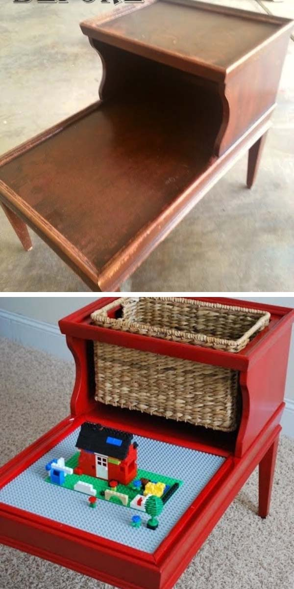 How To DIY Lego Table from old regular table #diy #furniture #makeover #repurpose #decorhomeideas
