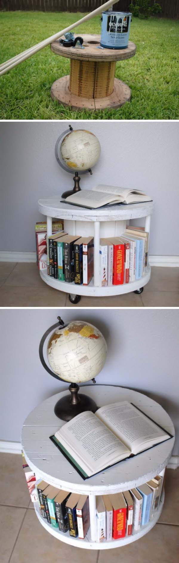 DIY Spool Makeover #furniture #makeover #diy #decorhomeideas