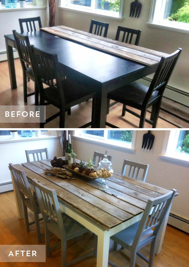 Dining Table Makeover #furniture #makeover #decorhomeideas