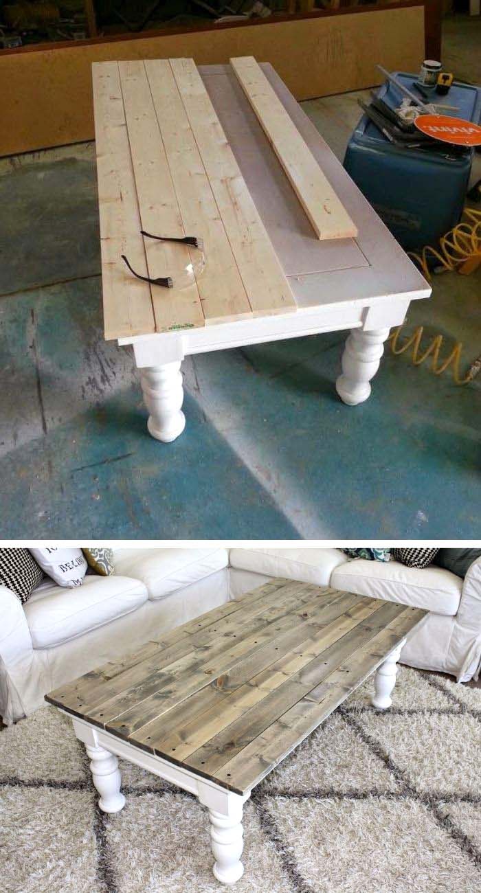 Farmhouse Coffee Table Makeover #furniture #makeover #diy #decorhomeideas