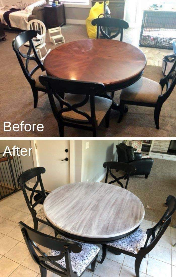 Farmhouse Graywash Table Makeover #furniture #makeover #diy #decorhomeideas