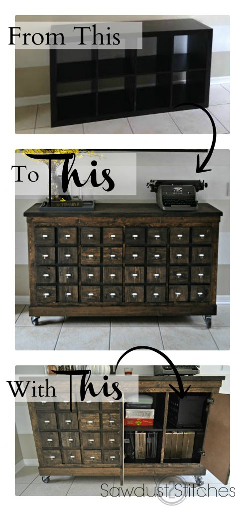IKEA Cubbies To Apothecary #furniture #makeover #decorhomeideas