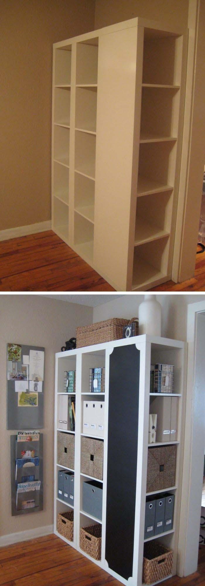 IKEA Shelf Makeover #furniture #makeover #decorhomeideas