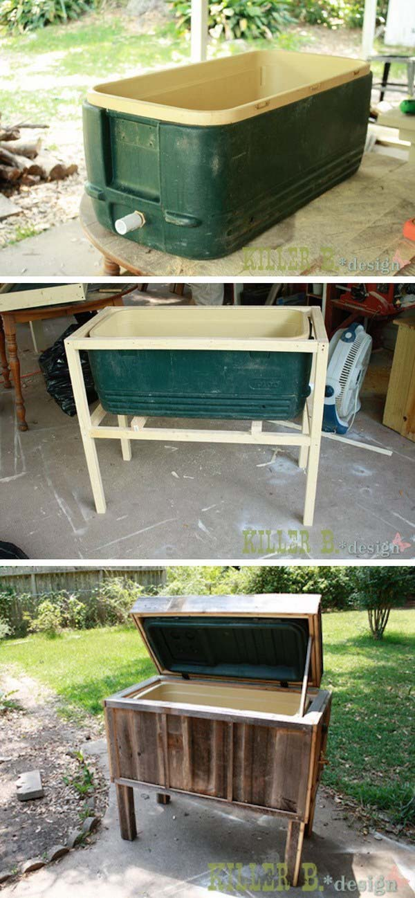 DIY Ice Chest Makeover Step By Step Instructions #diy #furniture #makeover #repurpose #decorhomeideas