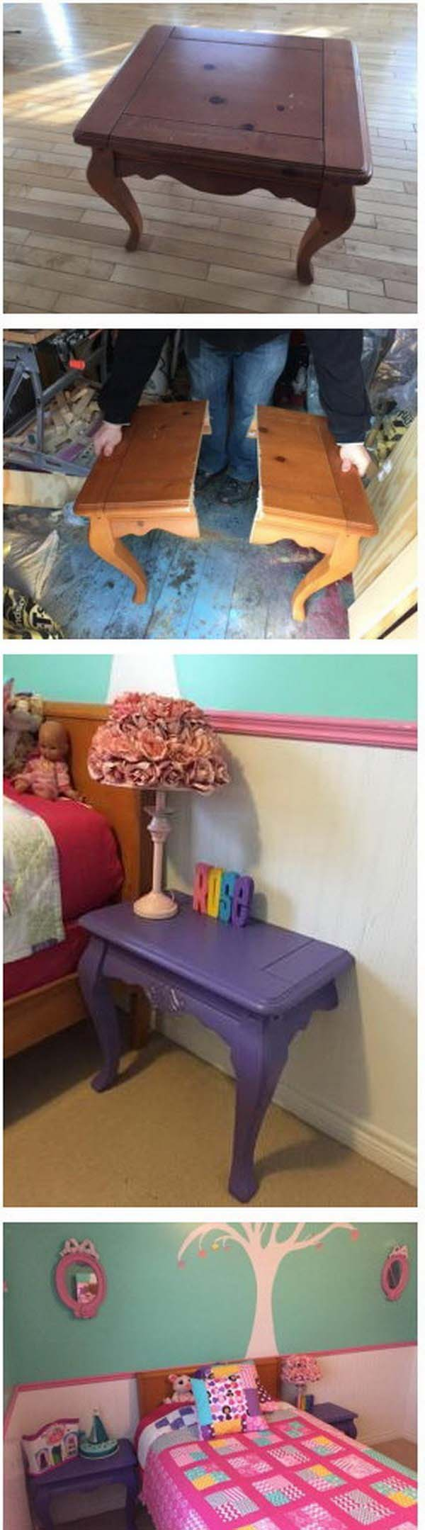 DIY Nightstands Makeover #diy #furniture #makeover #repurpose #decorhomeideas