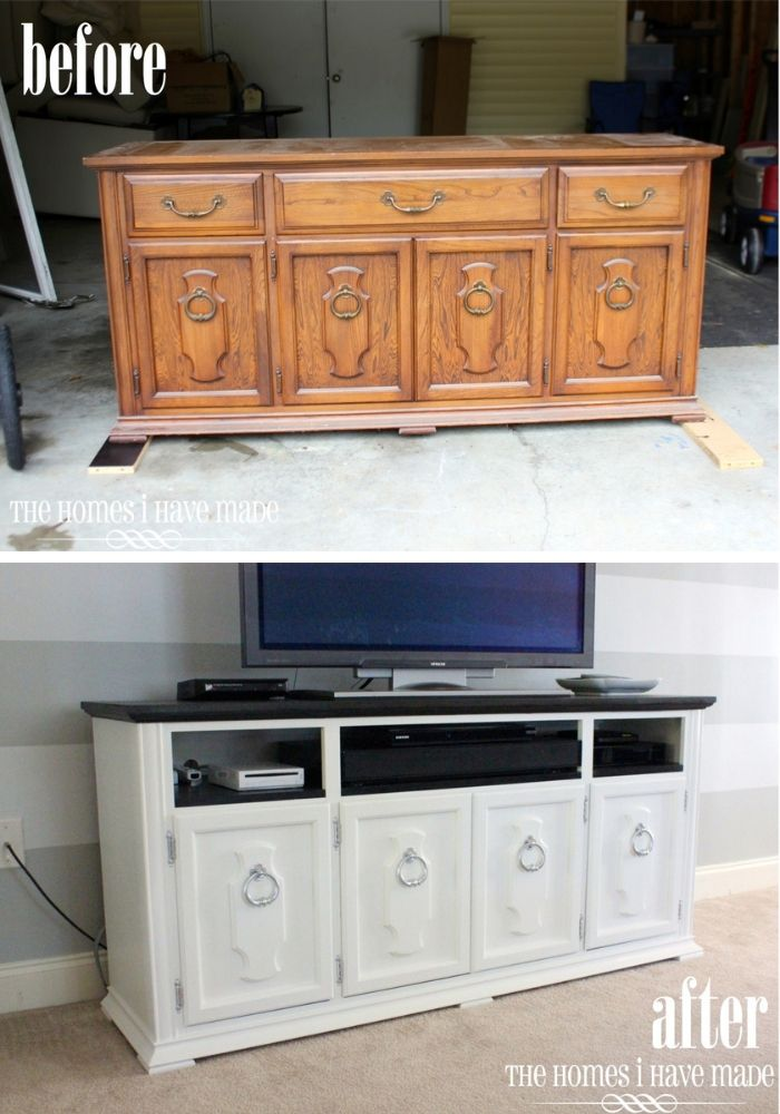 Old Buffet Makeover #furniture #makeover #diy #decorhomeideas