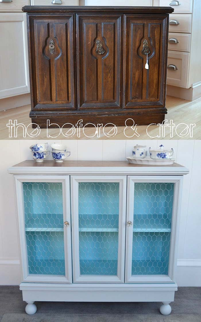 DIY Remodeled Cabinet #diy #furniture #makeover #repurpose #decorhomeideas
