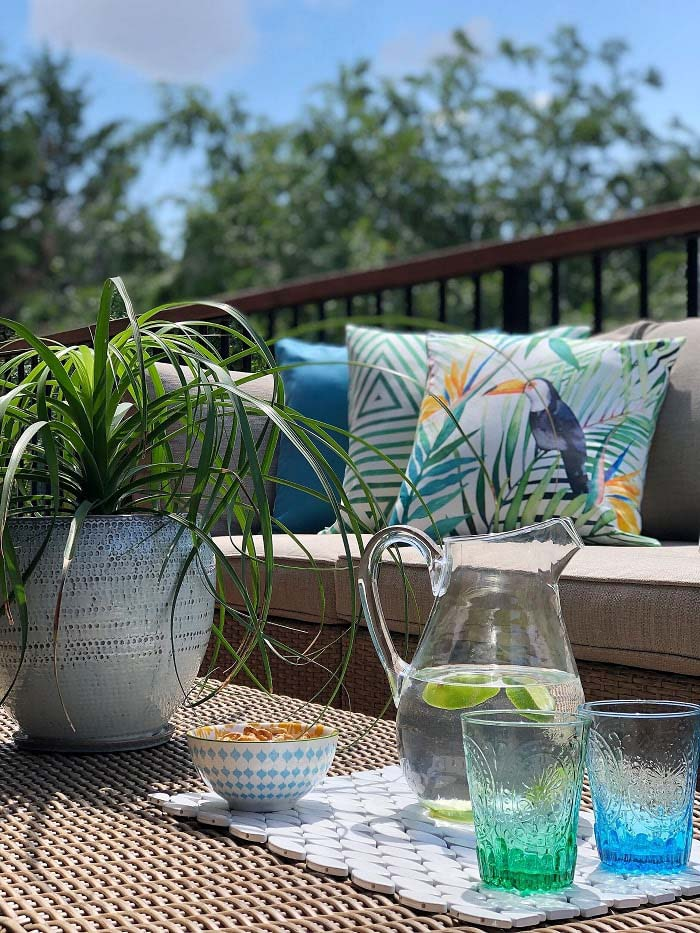 Patio Table With Lime Juice