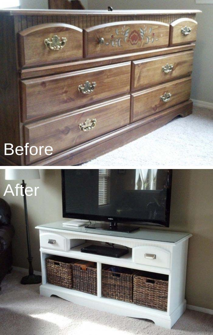 TV Stand Makeover #furniture #makeover #diy #decorhomeideas