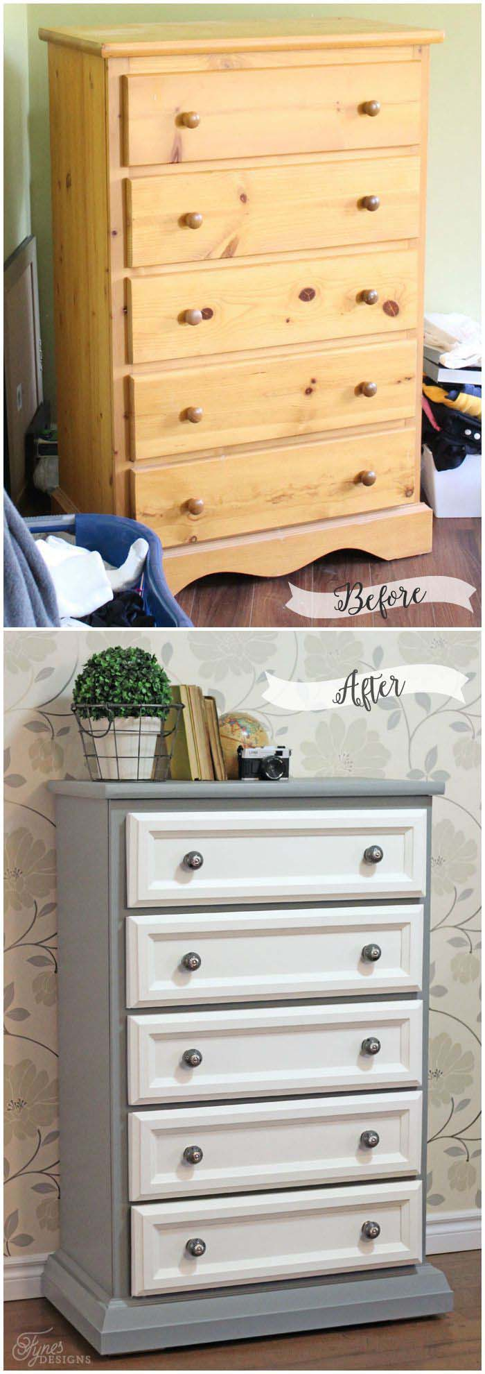 Tall Dresser Makeover #furniture #makeover #diy #decorhomeideas