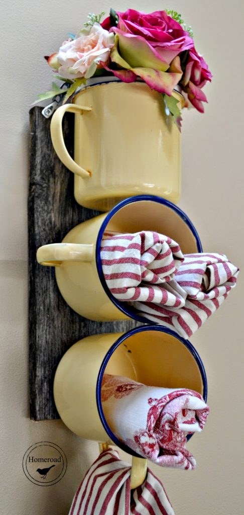 DIY Towel Holder From Cups #repurpose #reuse #kitchen #utensil #decorhomeideas