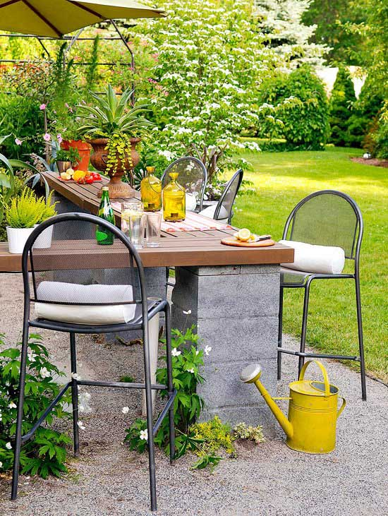 Cinder Block Outdoor Kitchen #cinderblock #garden #decorhomeideas