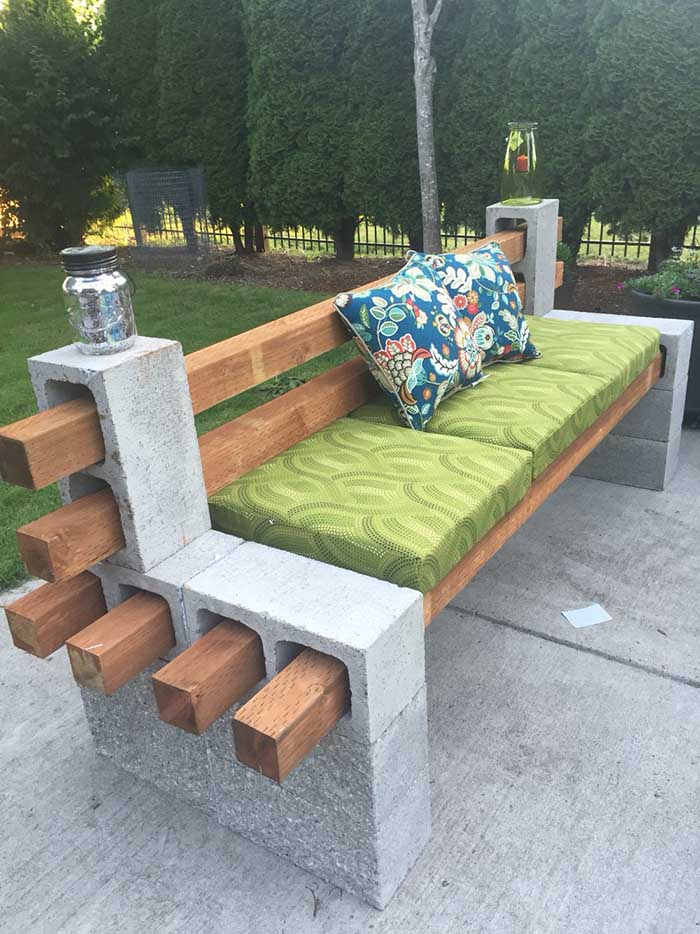 Cinder Block Patio Furniture #cinderblock #garden #decorhomeideas