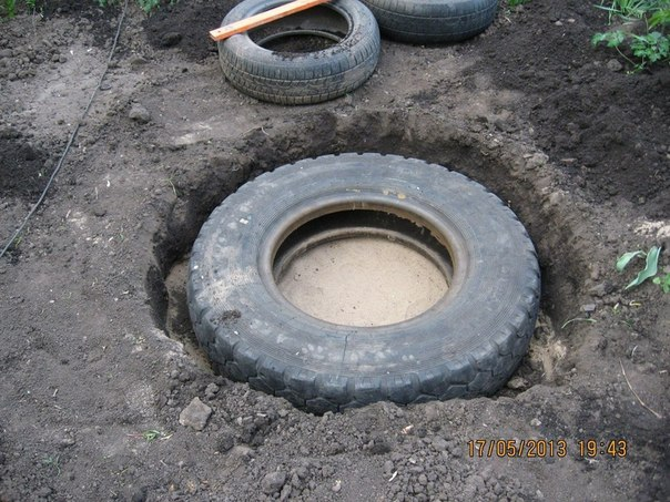 DIY Mini Pond From Old Tire