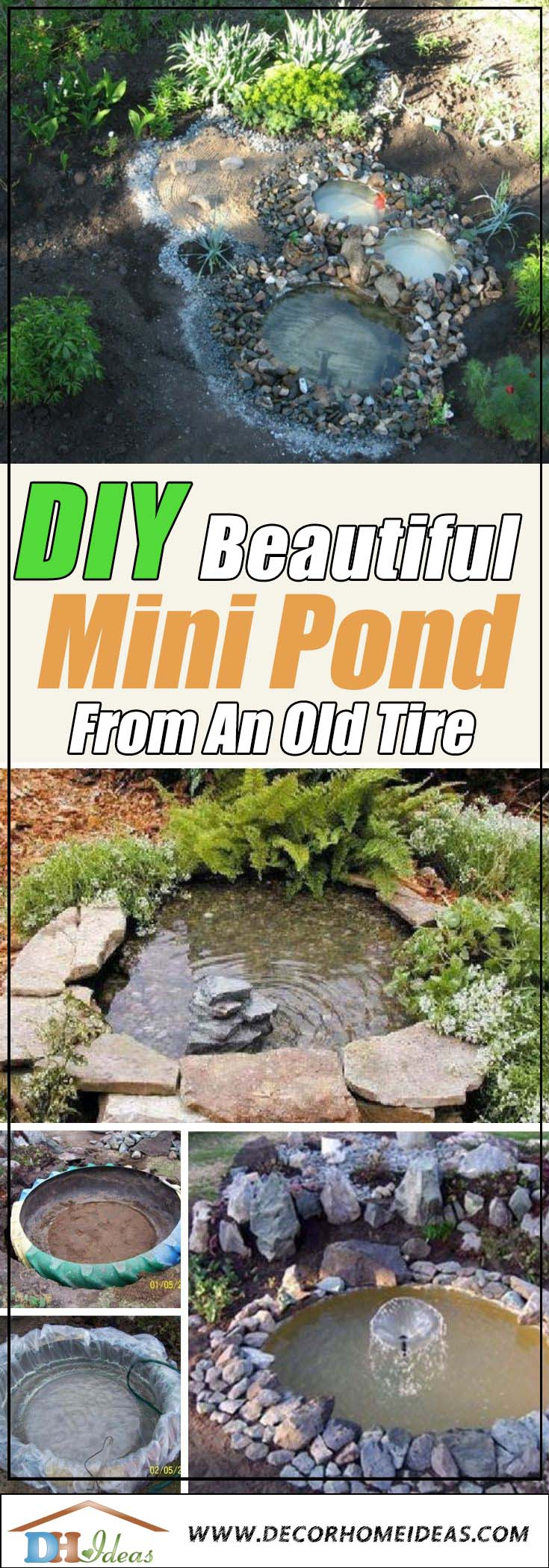 How To DIY Mini Pond From an Old Tire #garden #pond #decorhomeideas