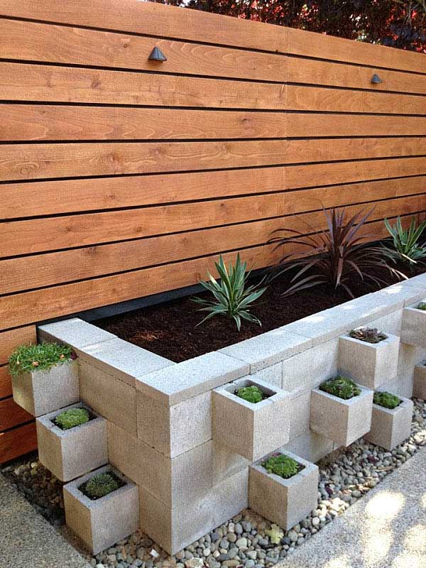 Flower Beds From Cement Blocks #cinderblock #garden #decorhomeideas