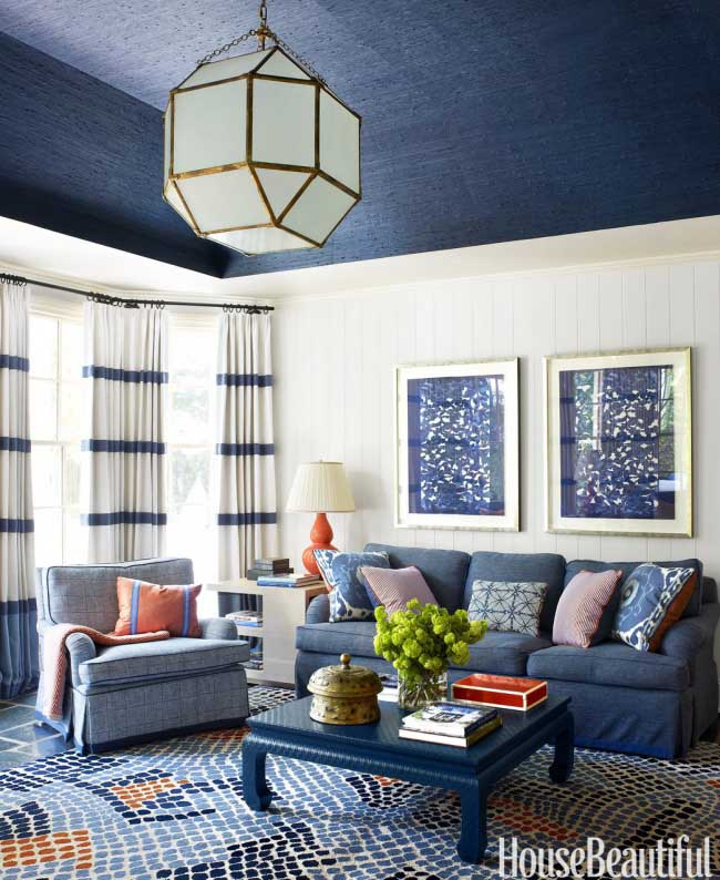 Navy Blue Living Room