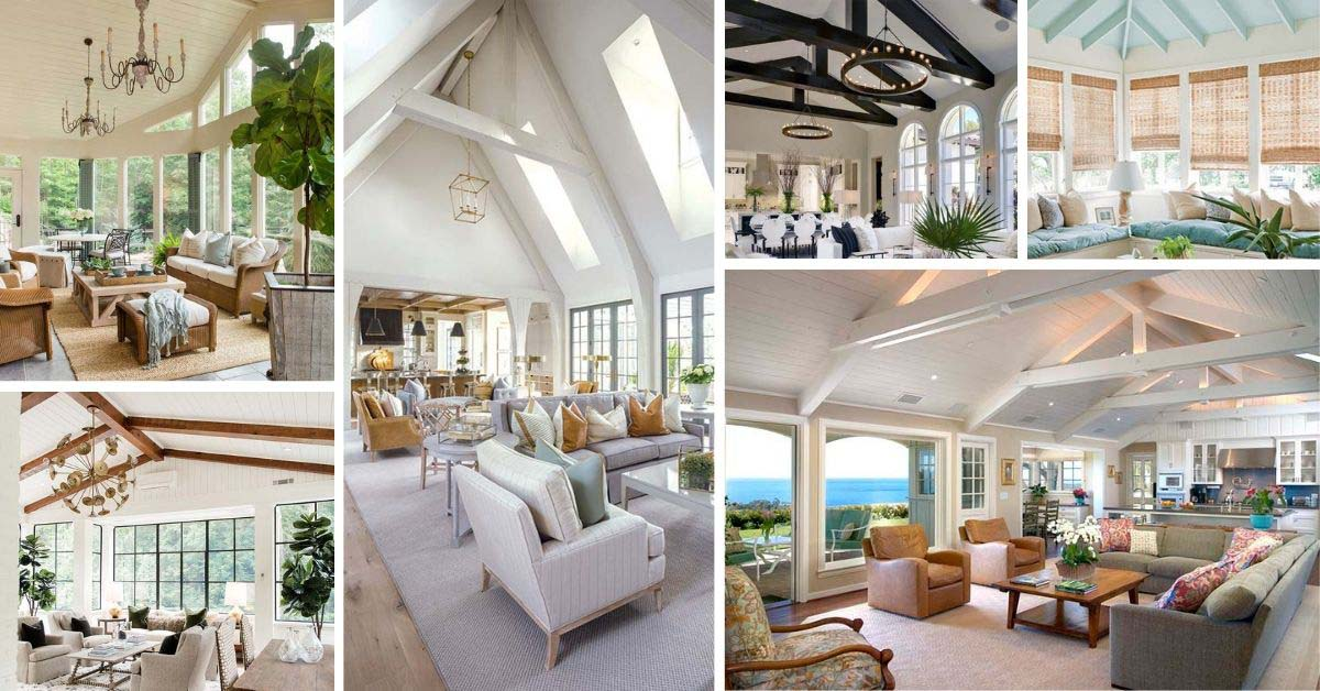 Vaulted Ceiling Living Rooms - Ideas and Designs