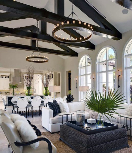Wood Beams Vaulted Ceiling #ceiling #livingroom #vaulted #decorhomeideas