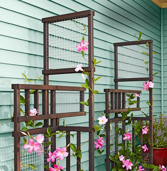 Wood Garden Trellis Ideas