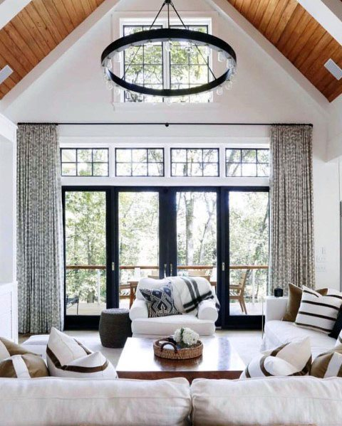 Wood Vaulted Ceiling Ideas For Living Room #ceiling #livingroom #vaulted #decorhomeideas