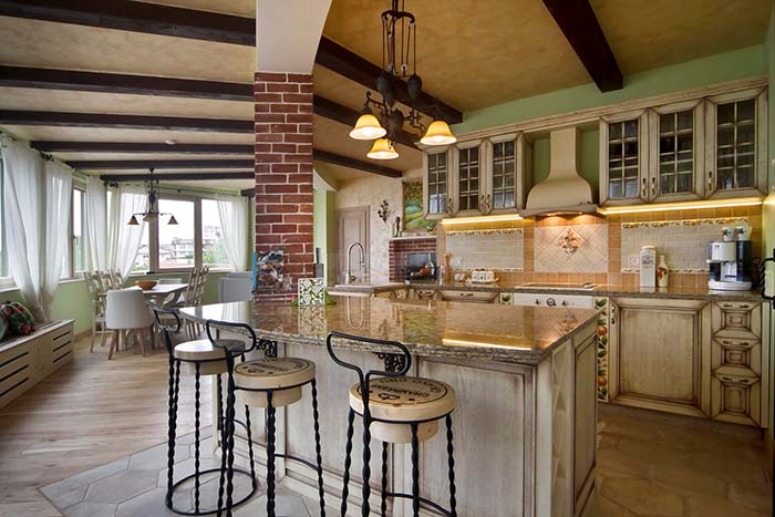 Apartment Interior Design Kitchen Island