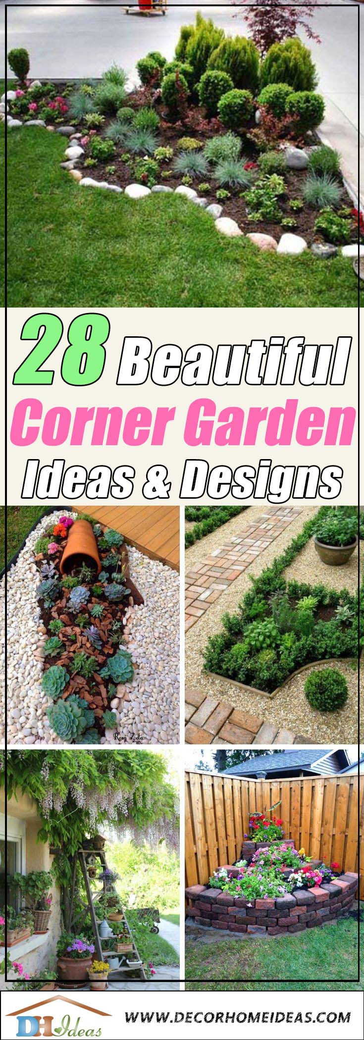 28 Beautiful Corner Garden Ideas and Designs | Decor Home ...