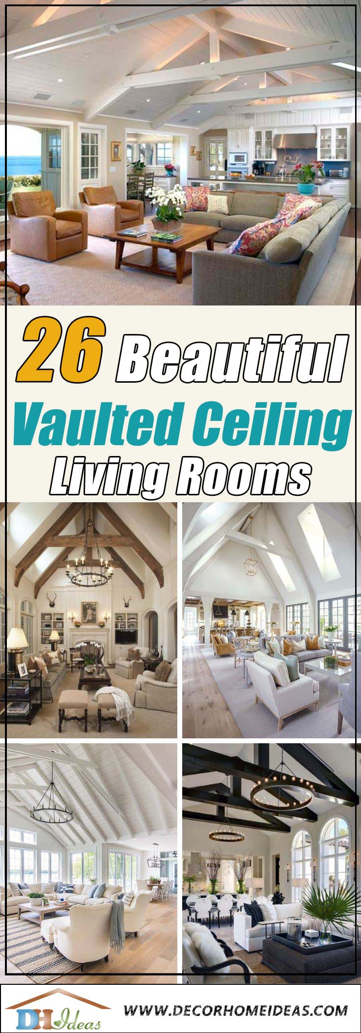 Best Vaulted Ceiling Living Rooms - Ideas and Designs #ceiling #livingroom #vaulted #decorhomeideas