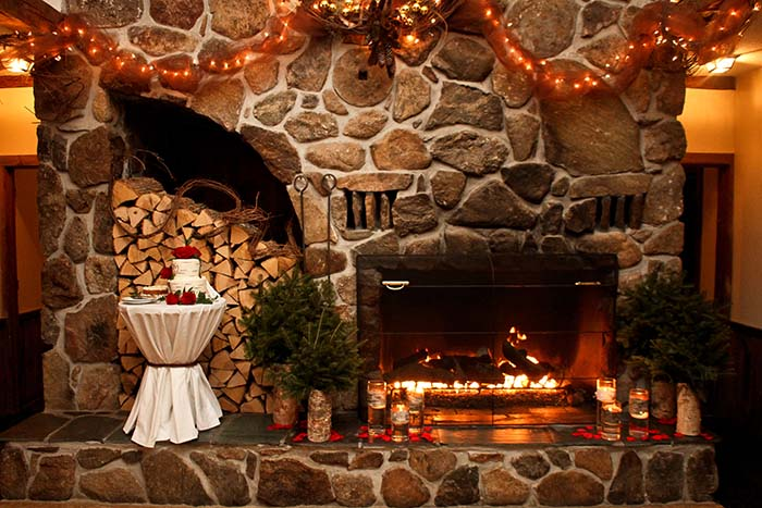 Christmas Farm Inn Fireplace