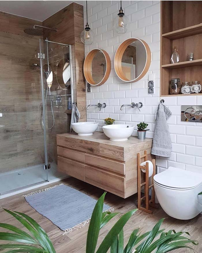 Cozy Teak Bathroom Design #bathroom #teak #decorhomeideas